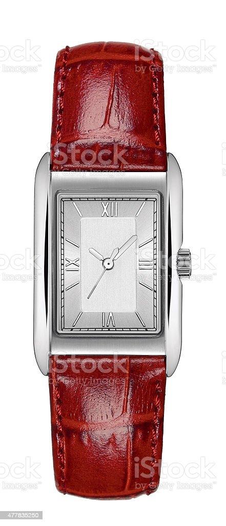 Elegant wristwatch stock photo