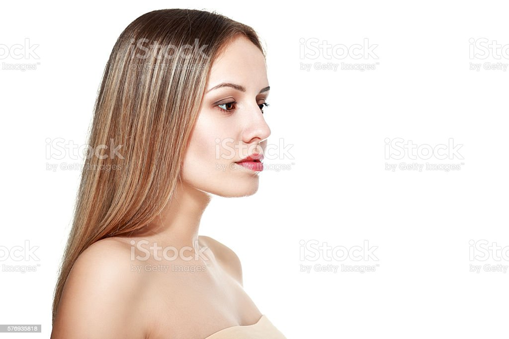 elegant young woman stock photo