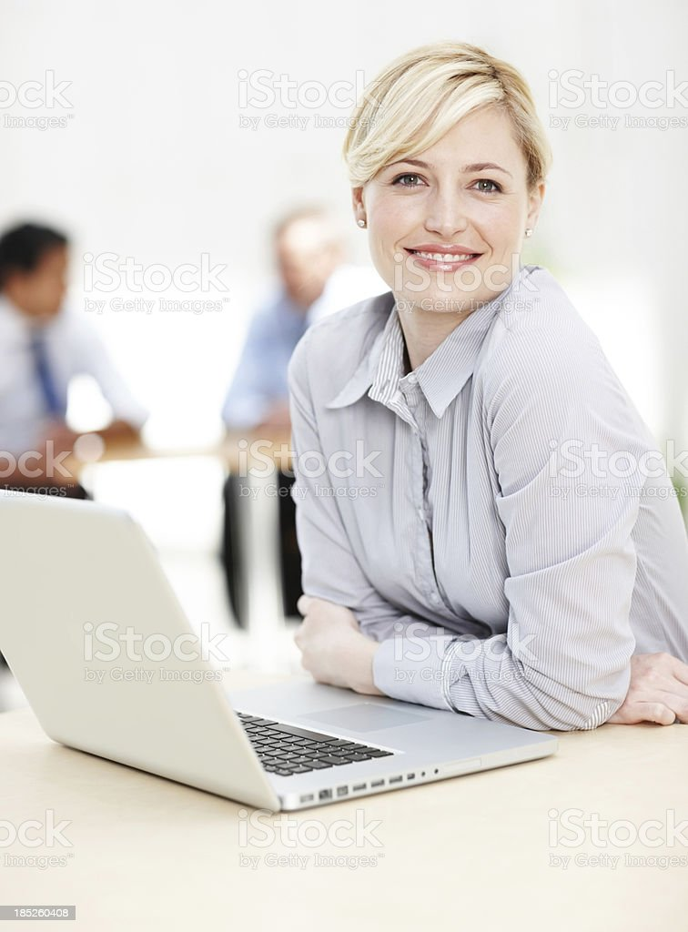 Elegantly enthusiastic corporate consultant royalty-free stock photo