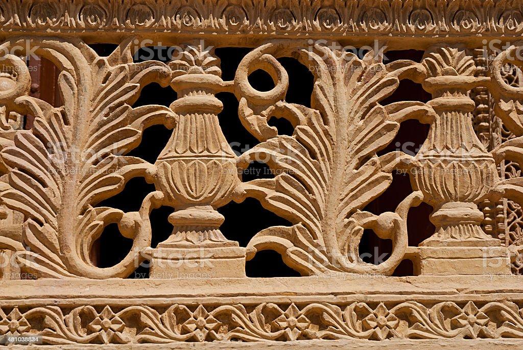 Element décorer balcon à Mandir Palace à Jaisalmer, Inde, photo libre de droits