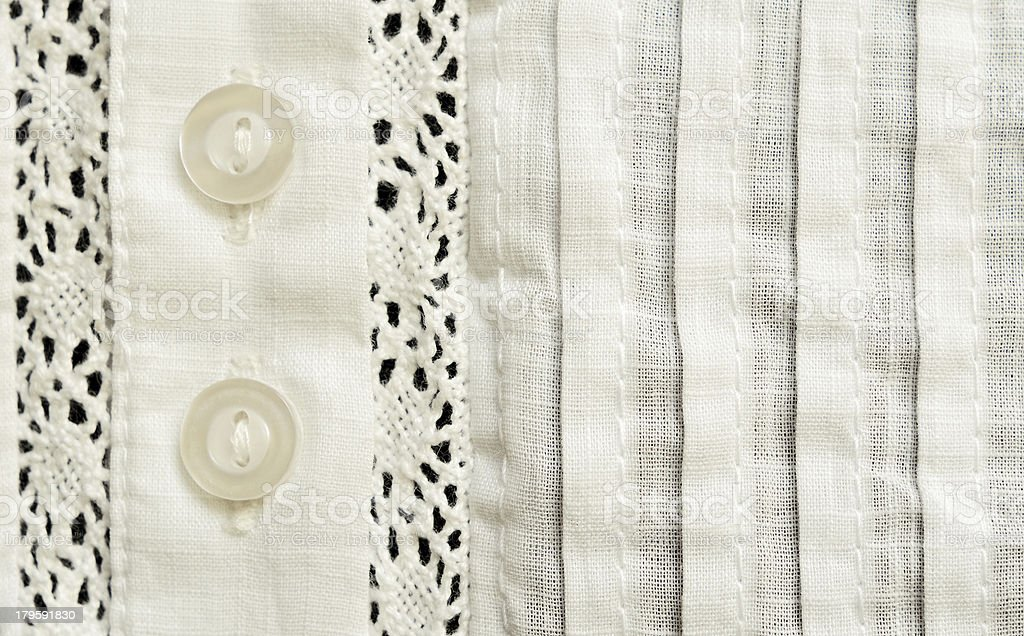 Element of batiste blouse royalty-free stock photo