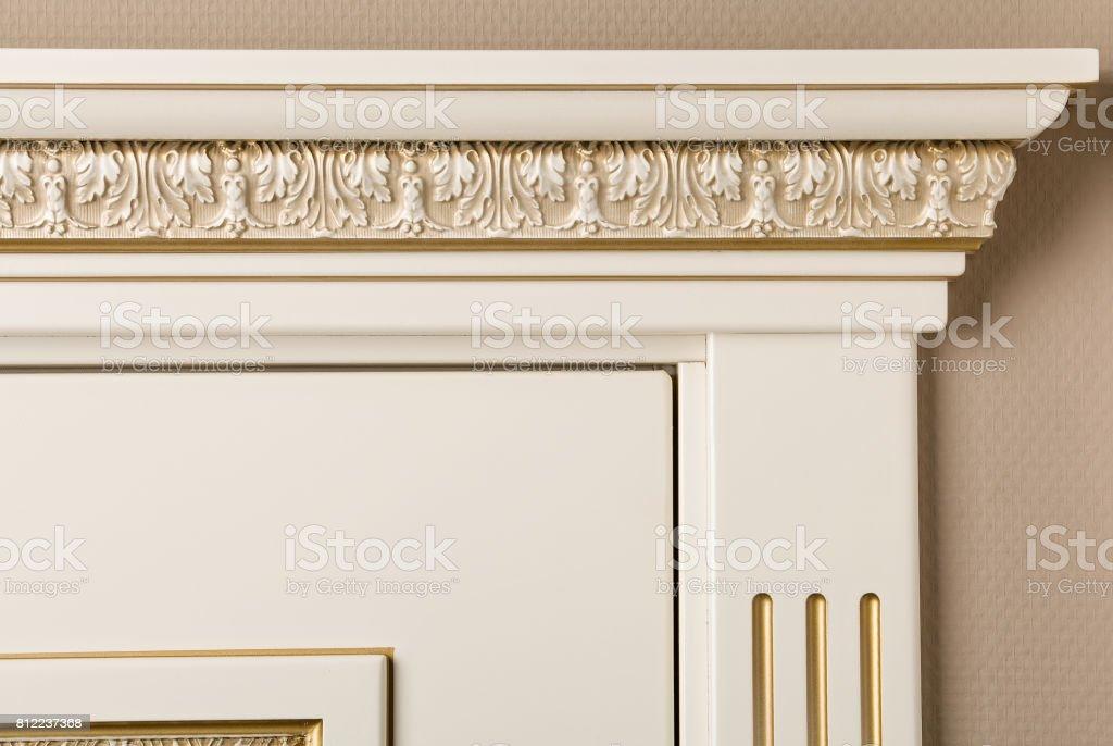 element of the door's molding stock photo