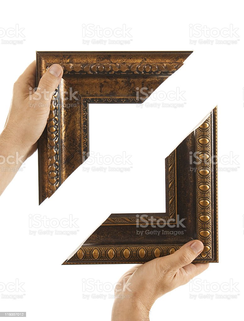 element of the frame  in hand stock photo