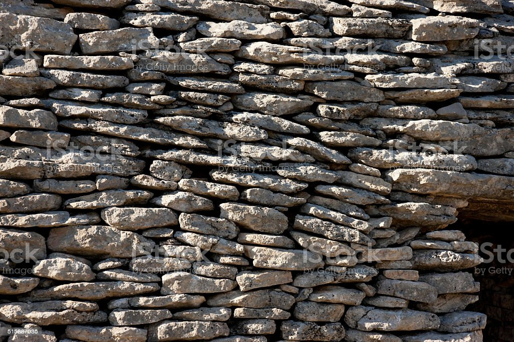 Element of the stonework at The Bories Village, Provence, France stock photo