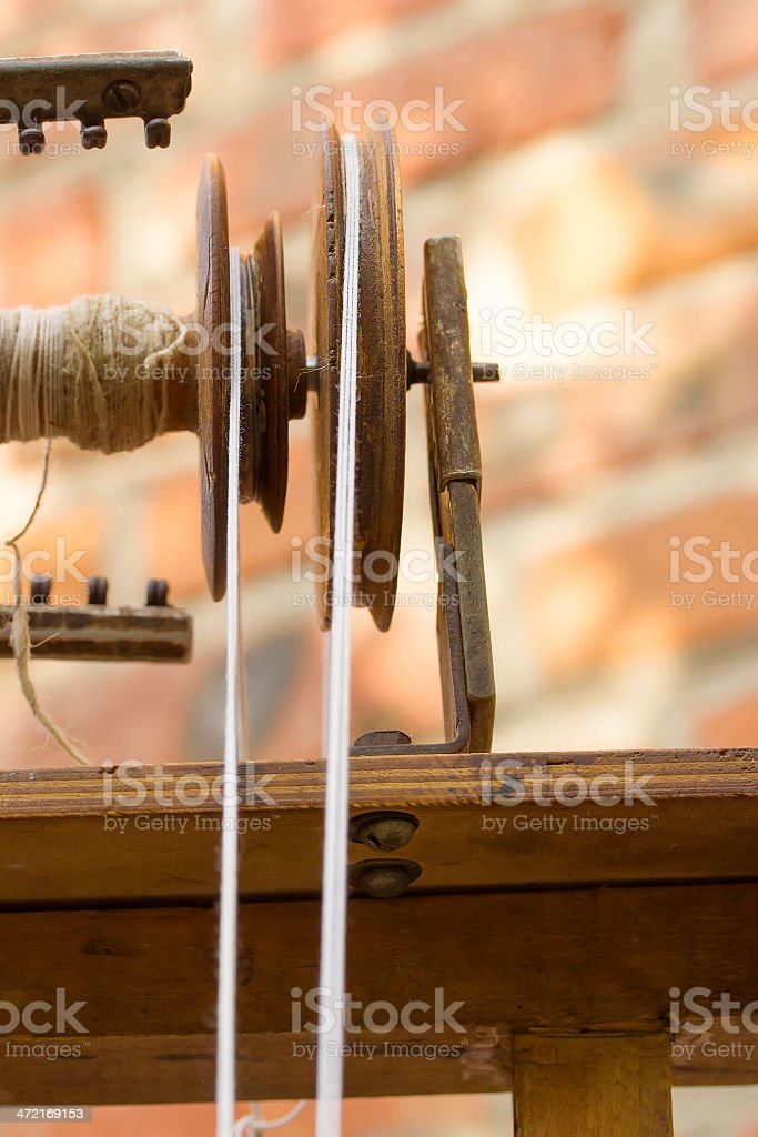 Element spinning wheel close-up stock photo