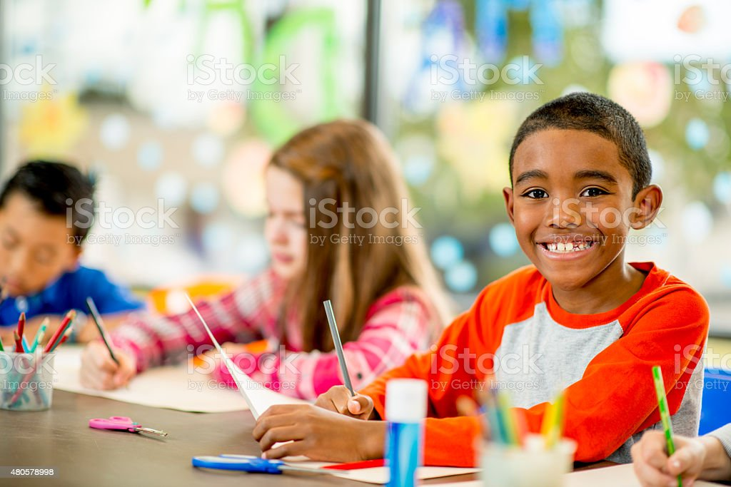 Elementary Arts and Crafts stock photo