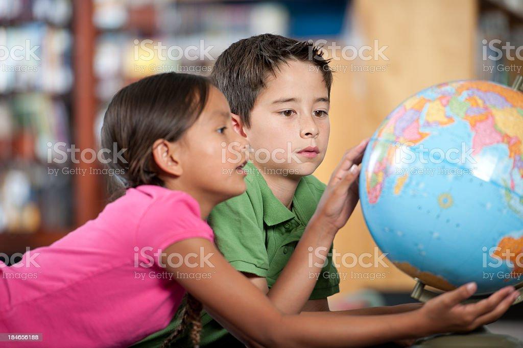 Elementary kids stock photo