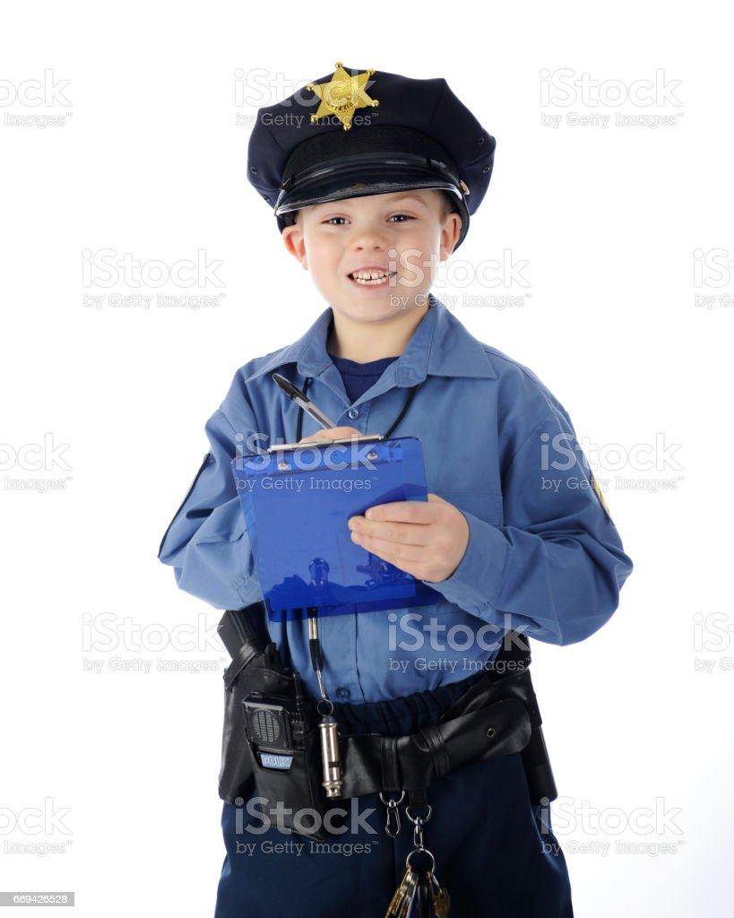 Elementary Policeman stock photo
