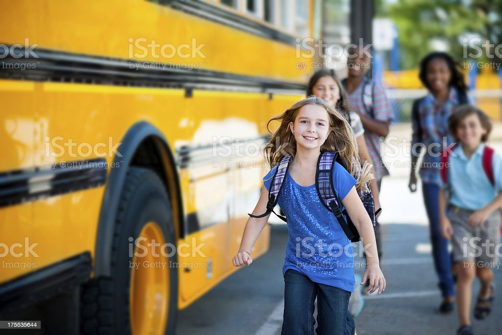 Elementary School Bus stock photo