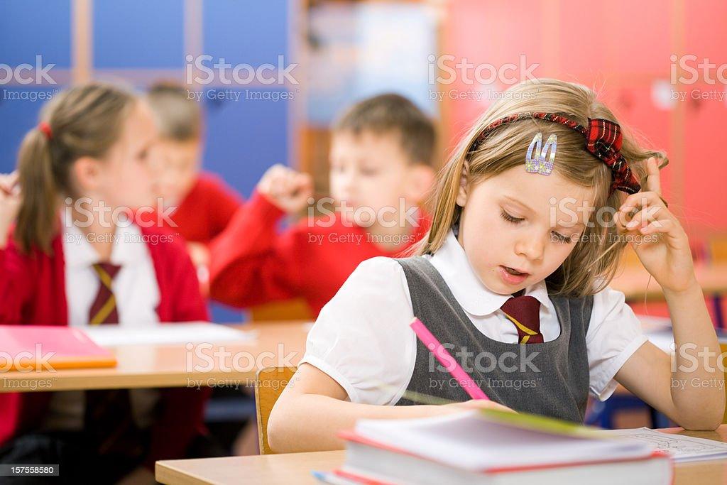 Elementary School Children In Classroom royalty-free stock photo