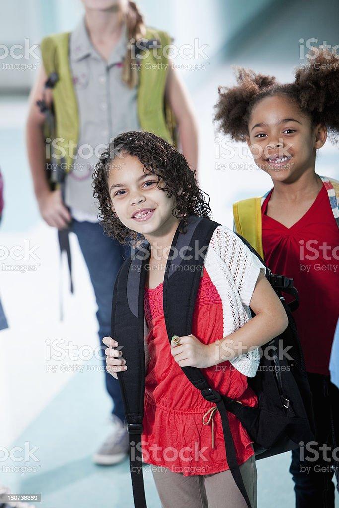 Elementary school children royalty-free stock photo