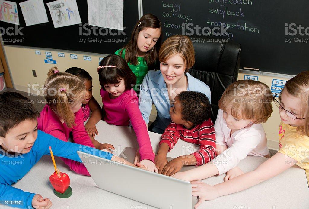 Elementary school classroom royalty-free stock photo