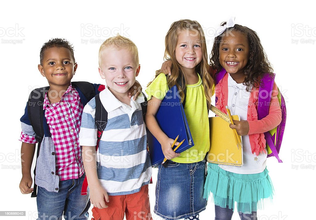 Elementary School Kids Group stock photo