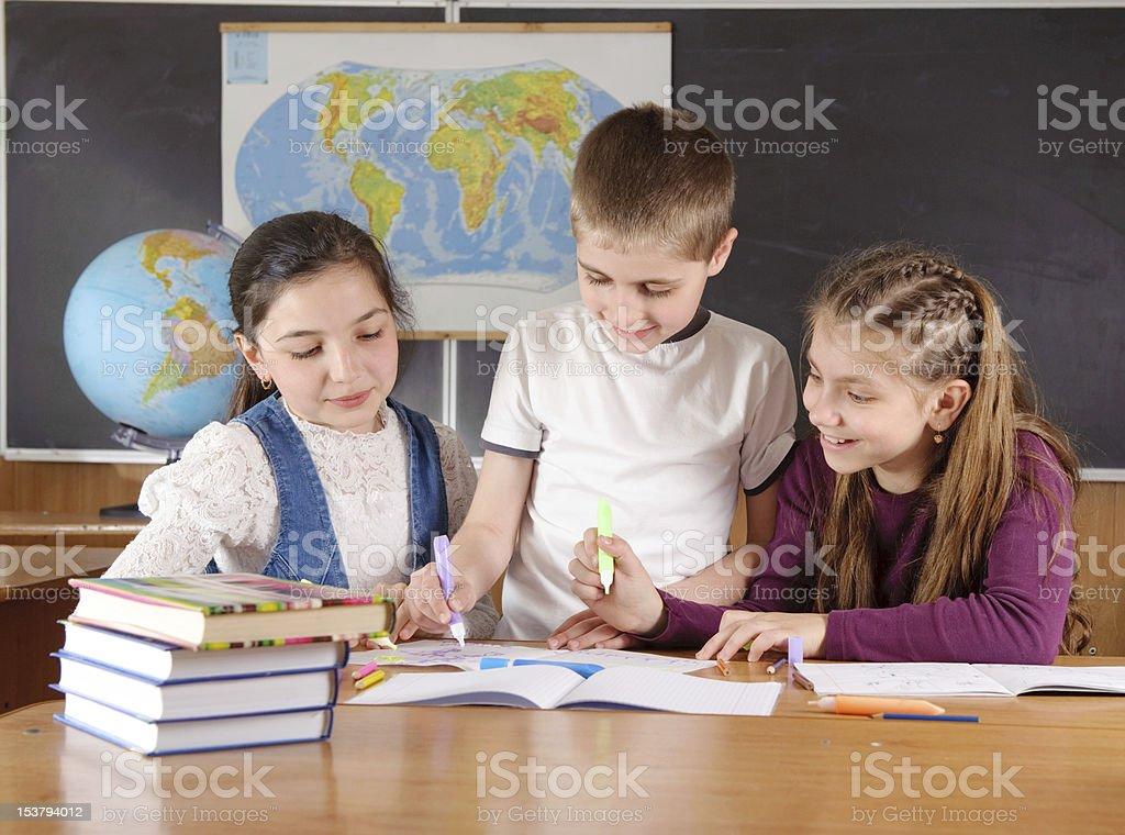 Elementary school pupils royalty-free stock photo