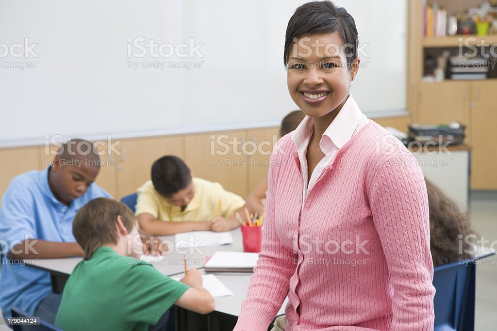 Elementary school teacher royalty-free stock photo