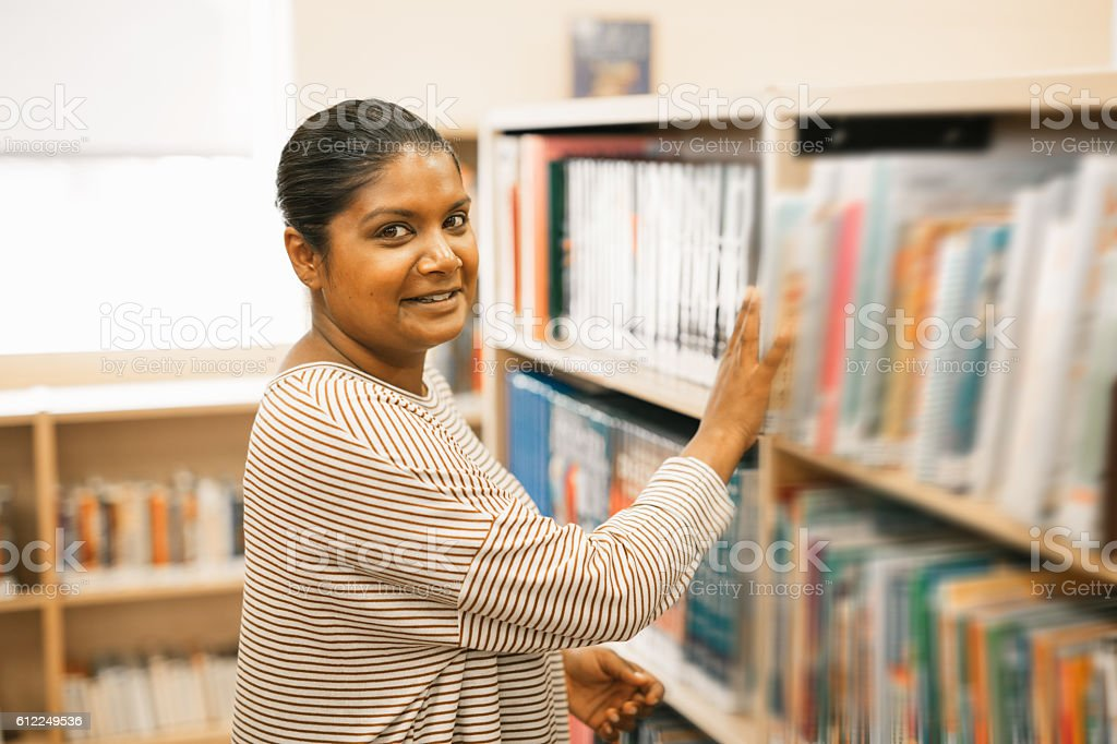 Elementary school teacher stock photo