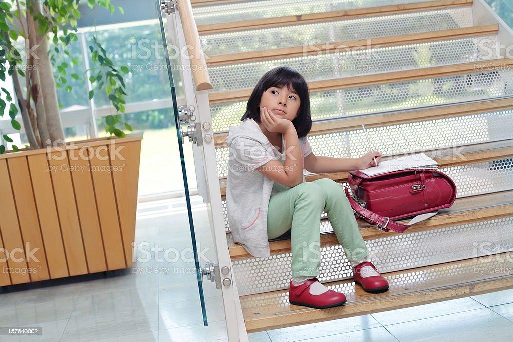 Elementary schoolgirl royalty-free stock photo