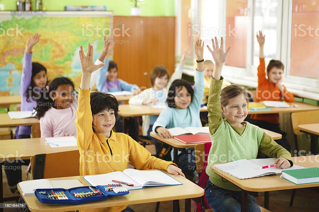Elementary students in the classroom. royalty-free stock photo