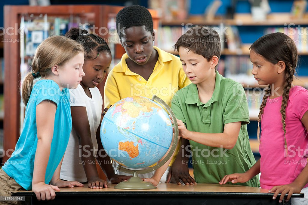 Elementary students royalty-free stock photo