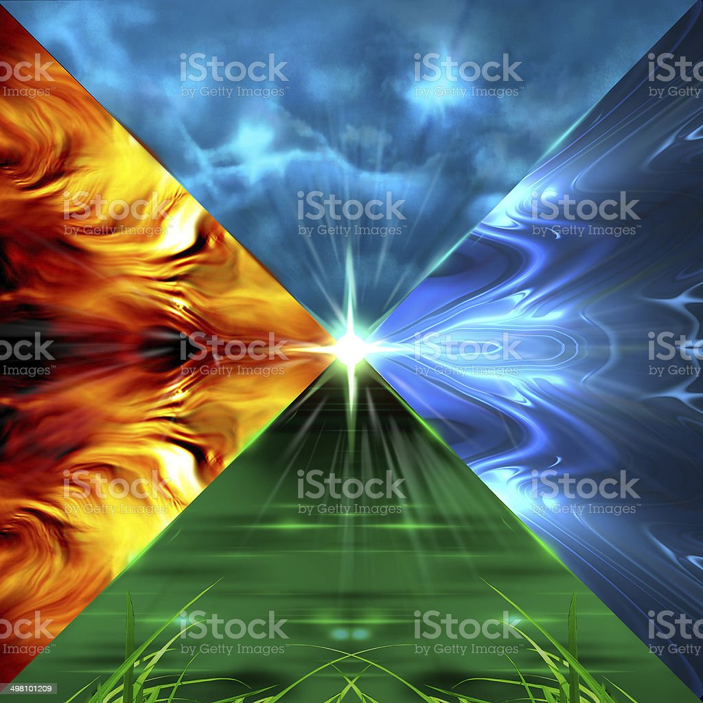 Elements Earth Water Air Fire stock photo