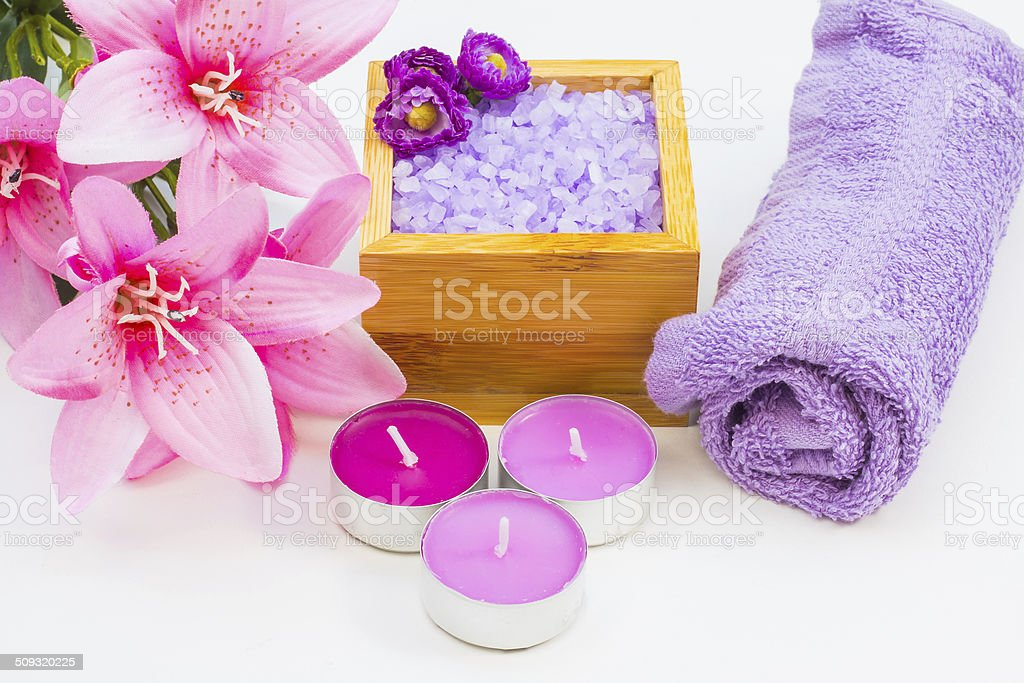 Elements for Spa and Aromatherpay stock photo