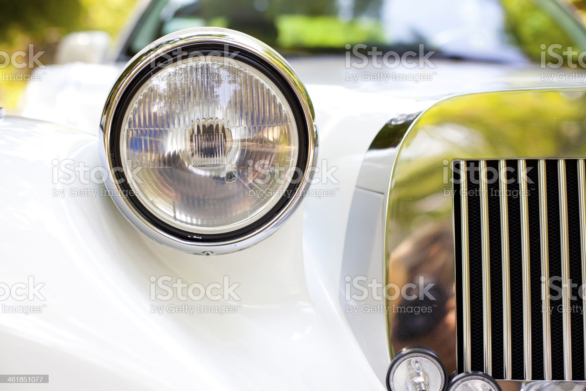 elements of a white car royalty-free stock photo