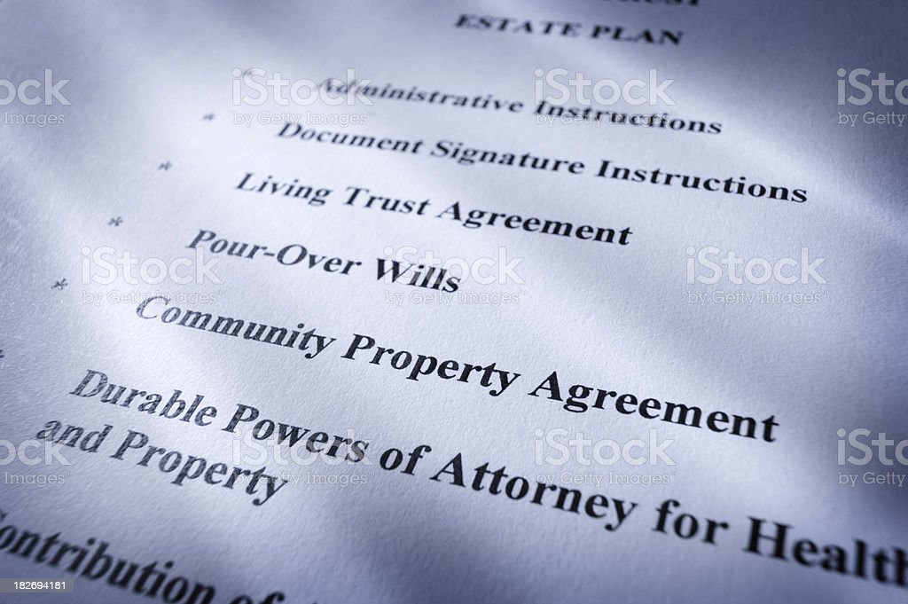 Elements of Living trust royalty-free stock photo