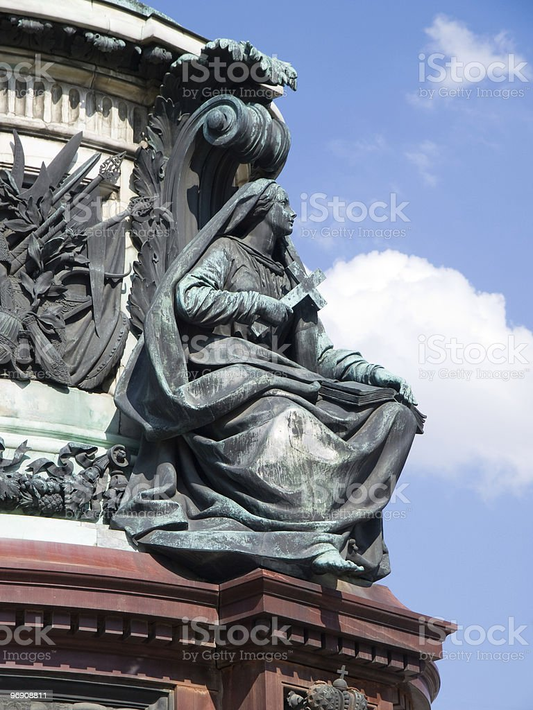 Elements of monument to Nikolay First royalty-free stock photo