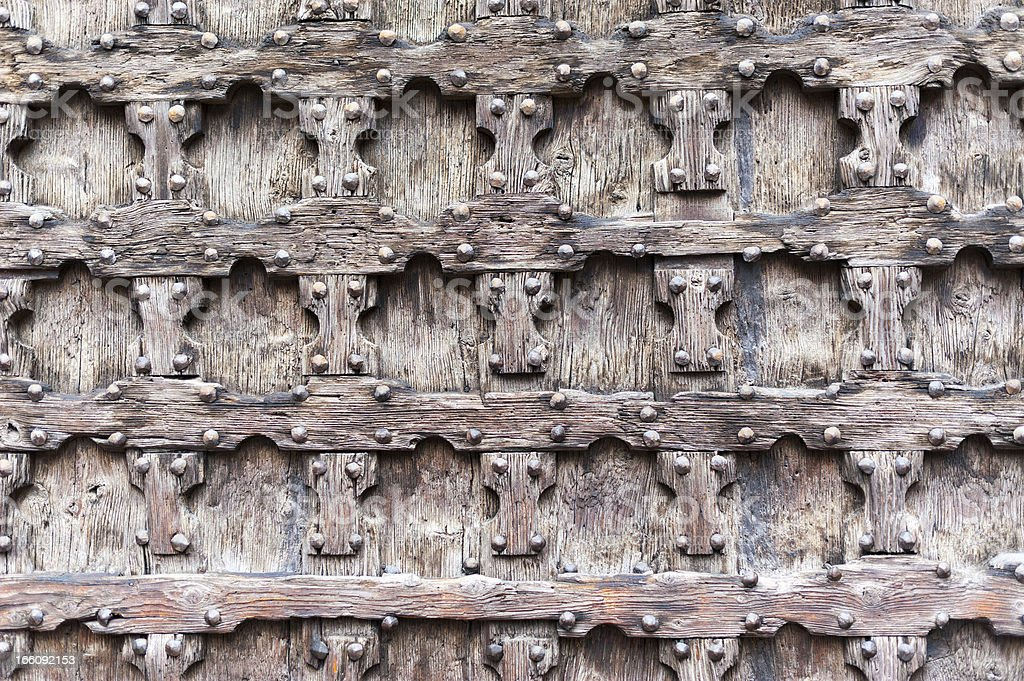 elements of the old door with a handle royalty-free stock photo