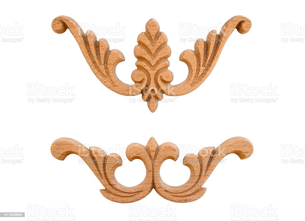 Elements woodcarving stock photo