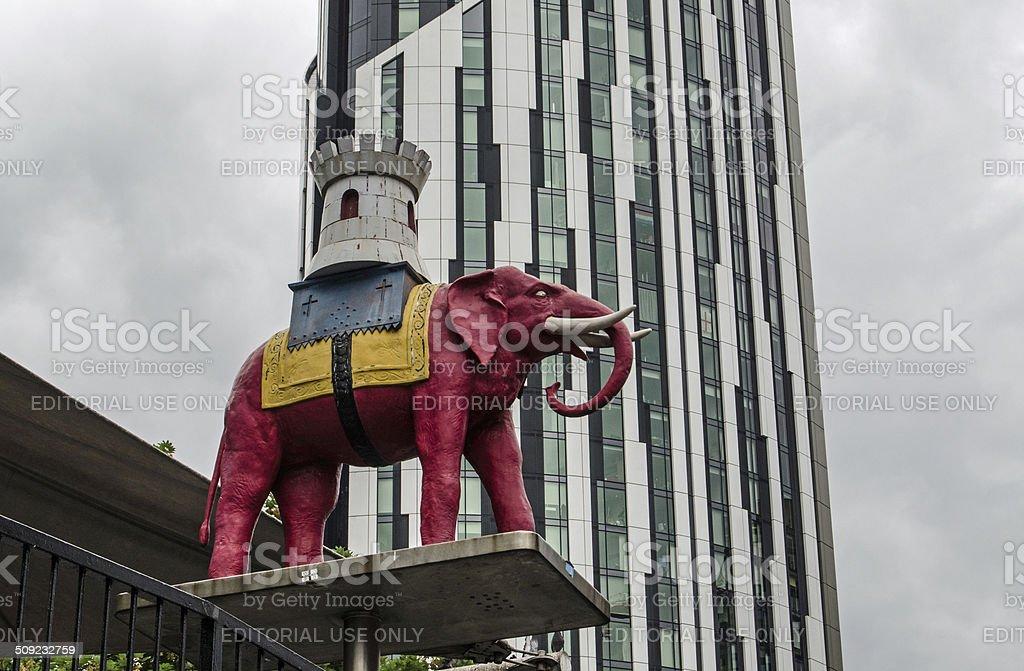 Elephant and Castle Landmark stock photo