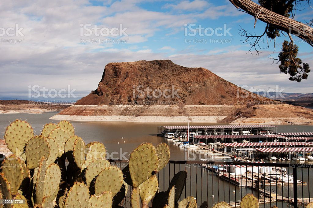 Elephant Butte Lake State Park in New Mexico stock photo