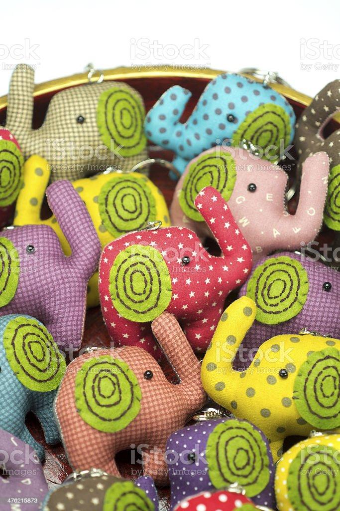 elephant cloth dolls stock photo