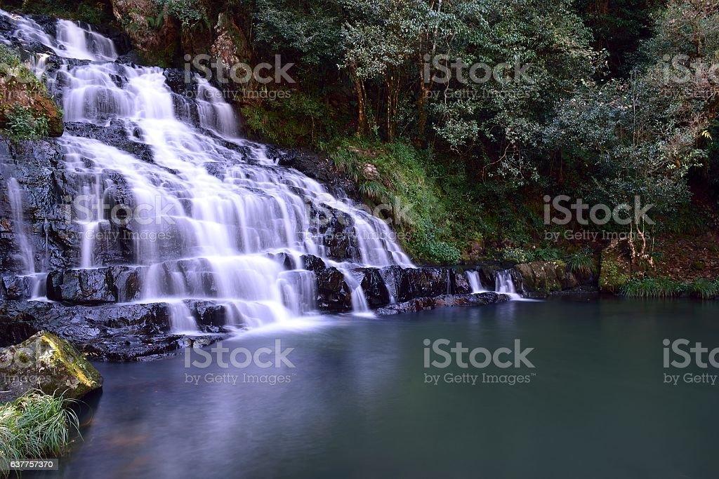 Elephant Falls, Waterfall at Shillong, Meghalaya, India stock photo