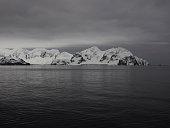 Elephant Island at dawn in Antarctica