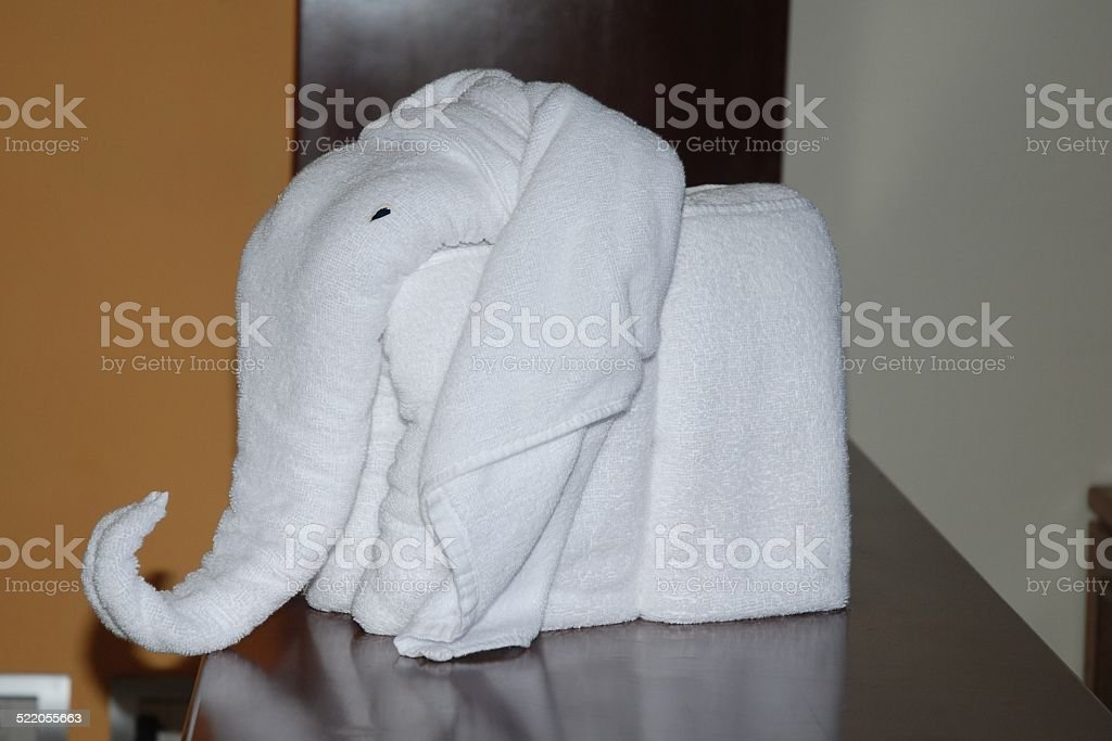 Elephant Made from Towell royalty-free stock photo
