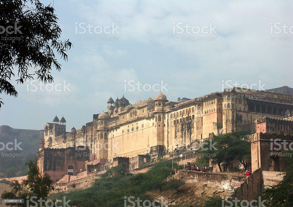 Elephant ride up to Amber Fort,Jaipur,Rajasthan,India royalty-free stock photo