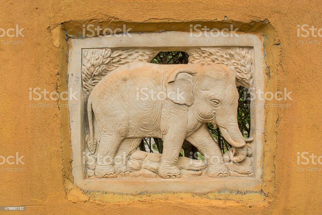 Elephant sand stone stock photo
