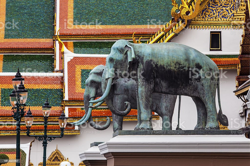 Elephant statue at Grand Palace in Bangkok Thailand. royalty-free stock photo
