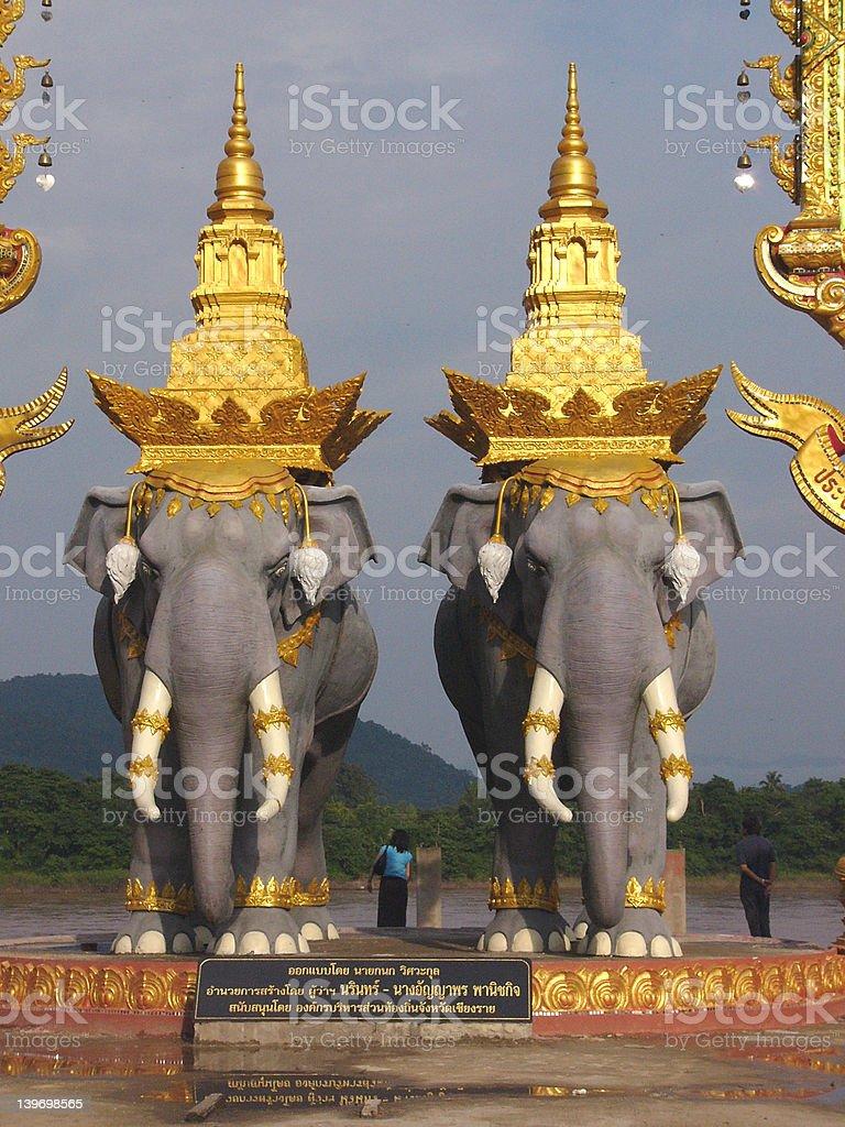 Elephant statues royalty-free stock photo