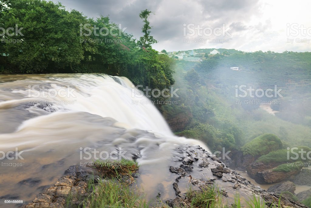 Elephant Waterfall. Dalat, Vietnam stock photo