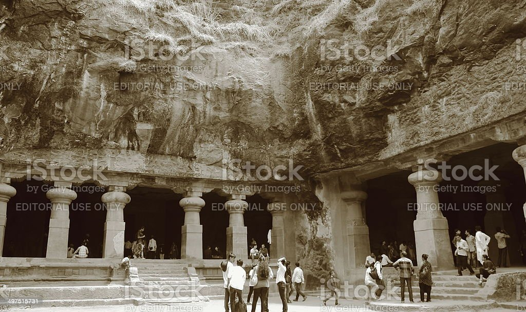 Elephanta caves, Mumbai, India royalty-free stock photo