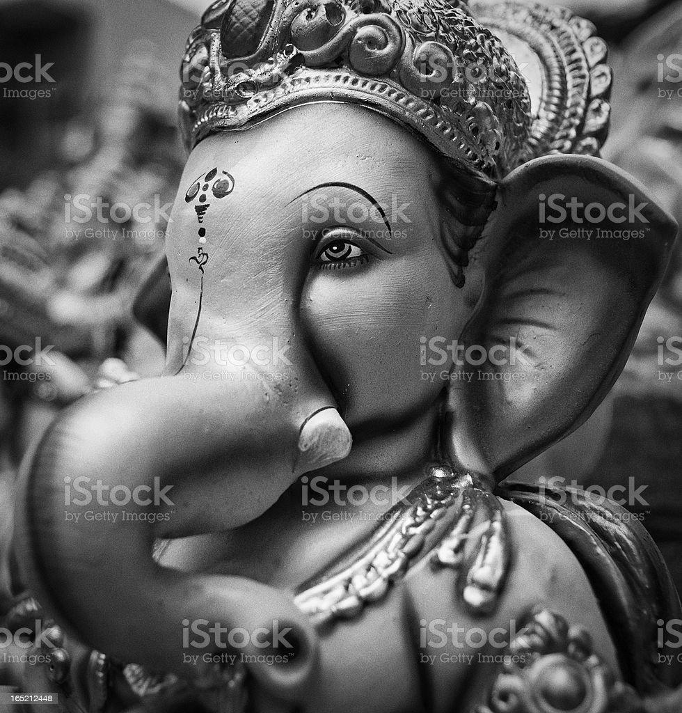 Elephant-headed Hindu god Ganesh royalty-free stock photo