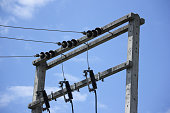 Eletricity line and electricity post