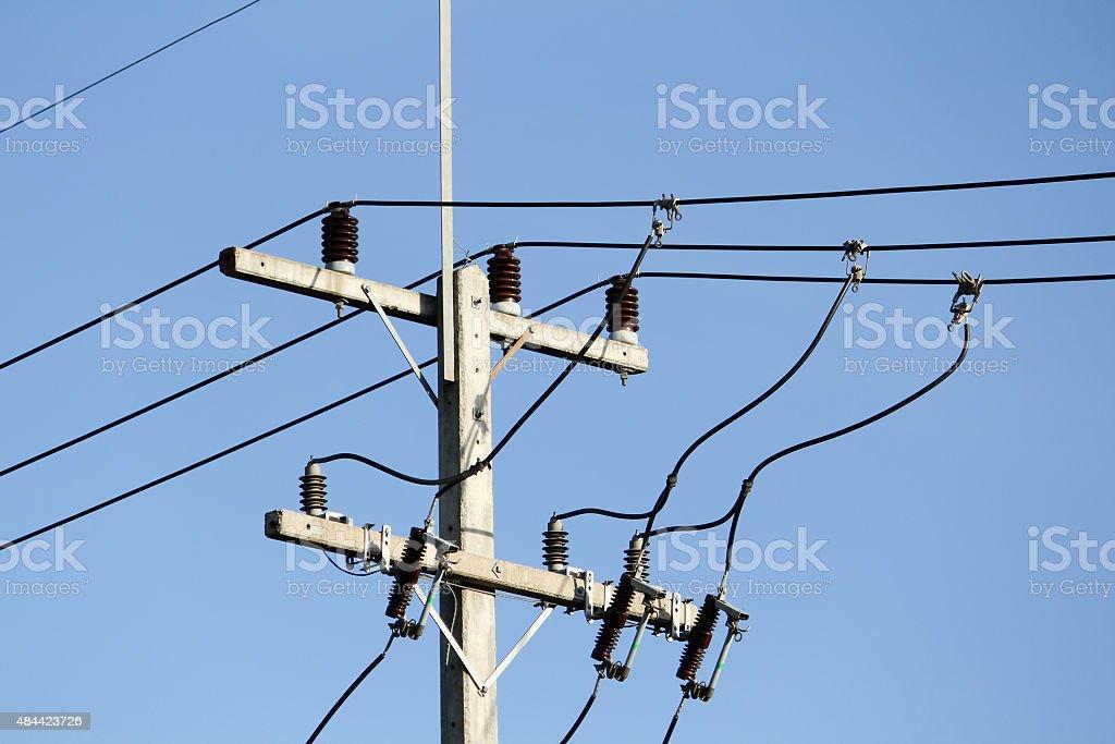 Eletricity Line stock photo
