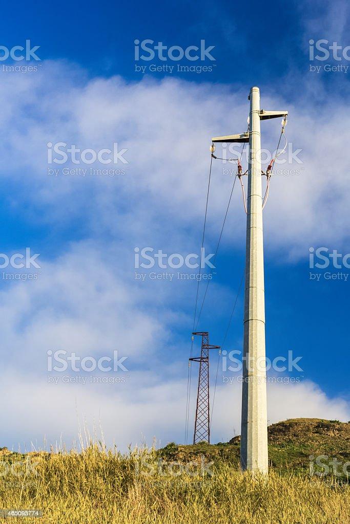 Eletricity pole stock photo