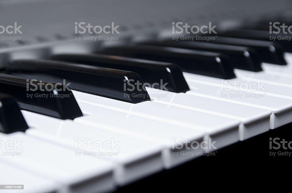 Eletronic keyboard stock photo