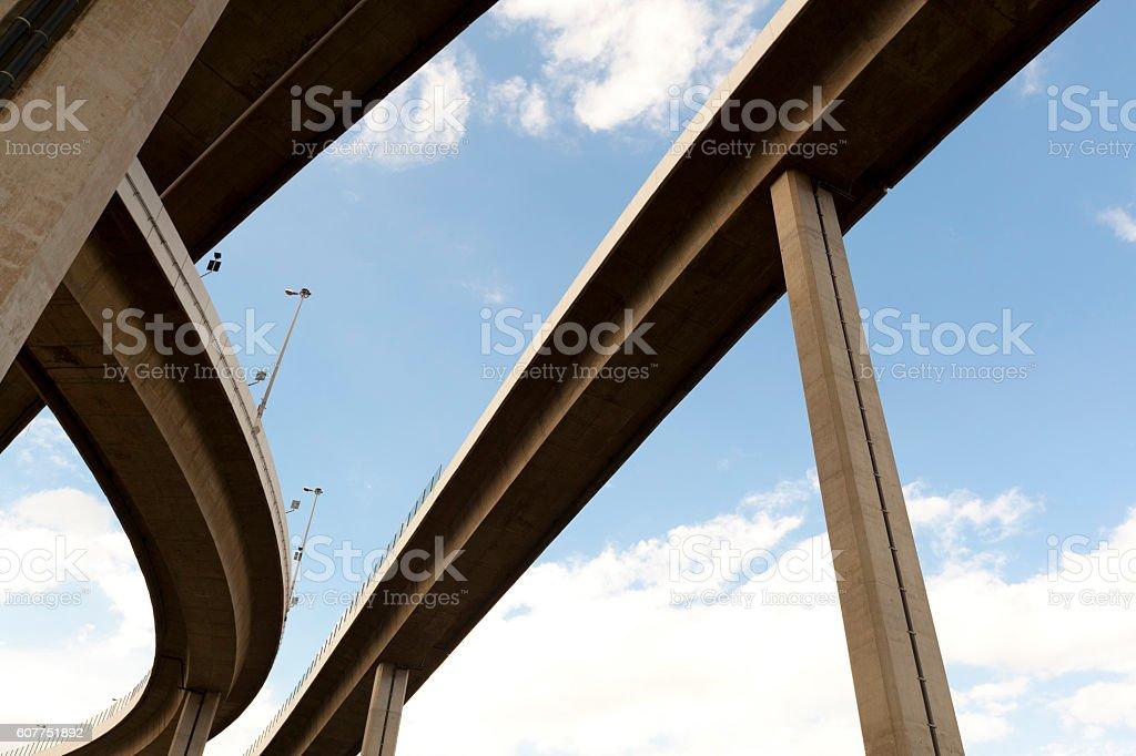 Elevated expressway stock photo
