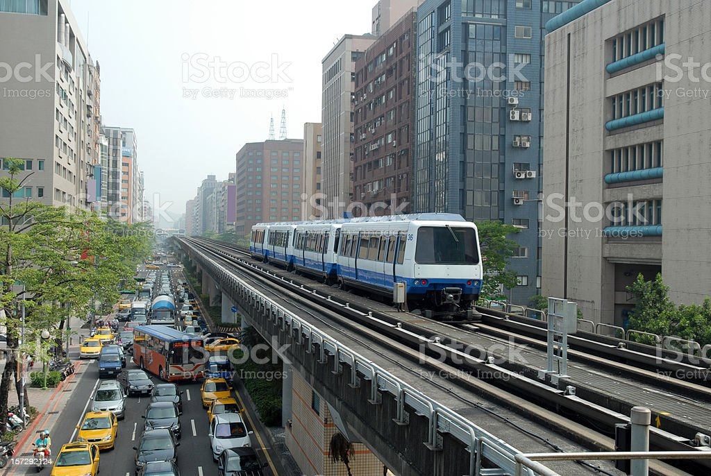 Elevated Light Rail royalty-free stock photo