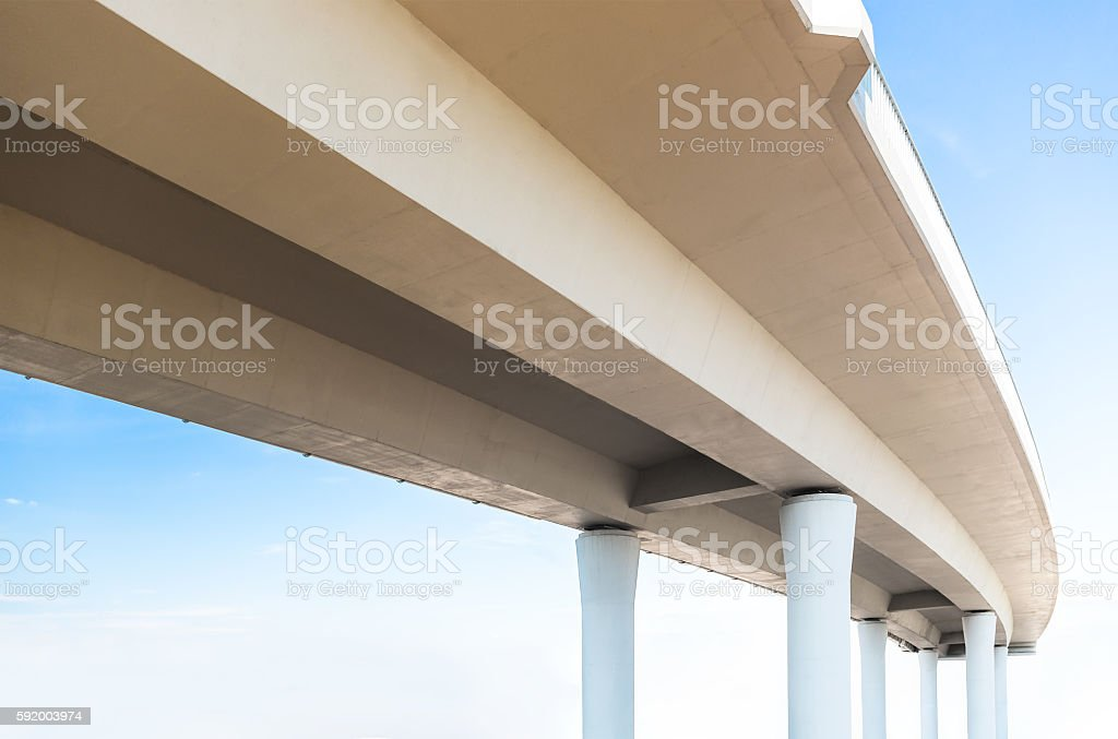 Elevated road from below stock photo